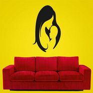 Black Baby & Mummy Decorative Wall Sticker-WS-08-196