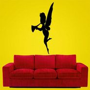 Black Butterfly Girl Decorative Wall Sticker-WS-08-203