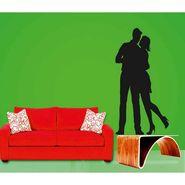 Black Couple Decorative Wall Sticker-WS-08-211