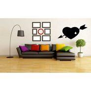 Black Heart Decorative Wall Sticker-WS-08-217