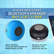 Water Resistant Bluetooth Speaker - Buy 1 Get 1 Free