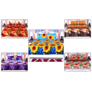 Welhome Pack of 5 - 3D Bedsheet Set Colorful Floral (5BS11)