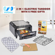 Wellberg 2 in 1 Electric Tandoor with 6 Free Gifts