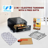 Wellburg 2 In 1 Electric Tandoor With 6 Free Gifts