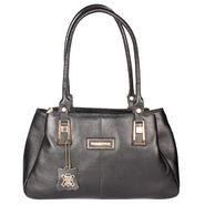 Xccess Genuine Leather Black Handbag -Xlhb05