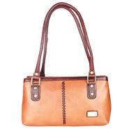 Xccess Genuine Leather Tan Handbag -Xlhb10