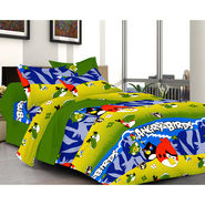 Valtellina Angry Birds Double Bed Sheet with 2 Pillow Covers