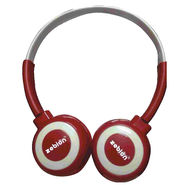 Zebion U 'N' Hue -100 Red Headphone (Red & White)