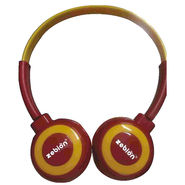 Zebion U 'N' Hue -100 Red Headphone (Red & Yellow)