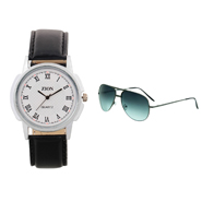 Combo of Zion Fashion 1 Wrist Watch + 1 Sunglasses_ZW 403