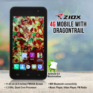 Ziox 4G Mobile with Dragontrail