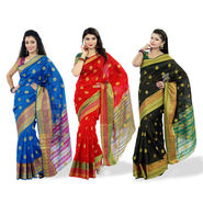 Kanooda Prints Weaved Kanjeevaram Saree - Pick Any 1 (KSS25)