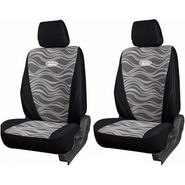 Branded Printed Car Seat Cover for Chevrolet Tavera - Black
