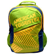 American Tourister Polyester Lime Backpack -ams06