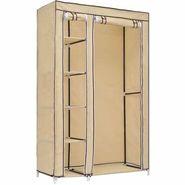 Portable Foldable Cream Wardrobe Cupboard Shelf Cabinet Storage Organizer