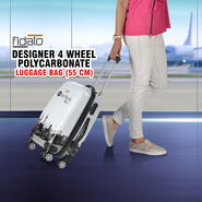 Fidato Designer 4 Wheels Polycarbonate Luggage Bag - 55 cm