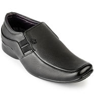 Foot n Style Leather Black Formal Shoes -fs3087