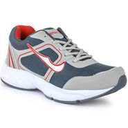 Foot n Style Synthetic Leather Sports Shoes FS 529 -Grey & Red