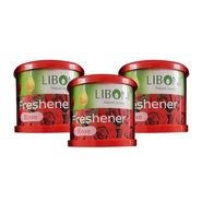 Liboni Natural Car Air Freshener/Perfume Set Of 3-Rose