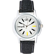 Mango People Analog Round Dial Watch For Men_mp010 - White