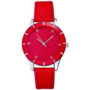 Mango People Analog Round Dial Watch For Women_mp045rd01 - Red