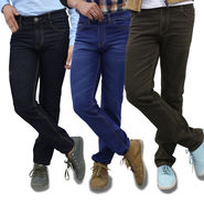 Pack of 3 Colored Premium Jeans (AMT8)