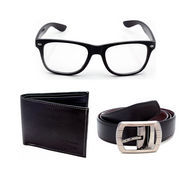 Combo of Porcupine Reversible Belt + Wallet + Sunglasses_GRJCOMBO-1