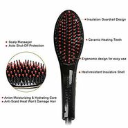 Brush Electric Comb, Hair Straightening Iron , Instant Natural Hair Styles - Black