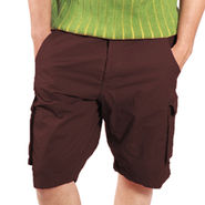 Uber Urban Cotton Shorts_ub11 - Brown
