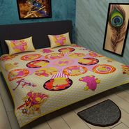 Manukunj Double Bedsheet With 2 Pillow Covers-world4
