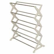 5-tier Foldable Stainless Steel Shoe Rack Home Organization