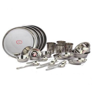Dhanlaxmi Stainless Steel 24 Pcs Dinner Set