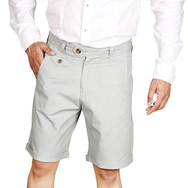 Sparrow Clothings Cotton Cargo Shorts_wjcrsht18 - Silver