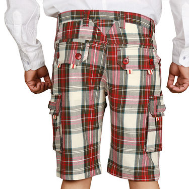 Sparrow Clothings Cotton Cargo Shorts_wjcrsht09 - Multicolor