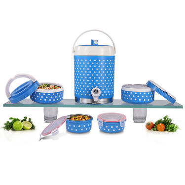 Hot & Cold Combo (1 Big Water Cooler + 2 Big Lunch Box + 2 Air Tight Medium Container)