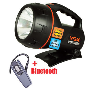 VOX Super Power Long Distance Rechargeable LED Torch + Bluetooth