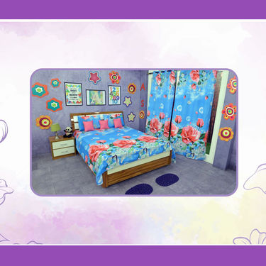 10 Pcs 3D Floral Printed Bedroom Combo - Pick Any 1
