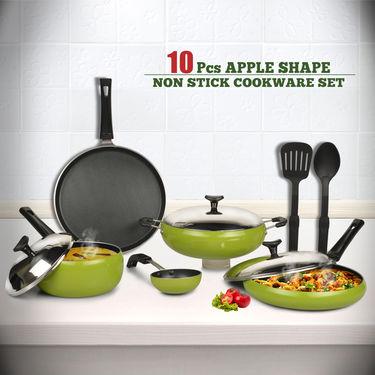 10 Pcs Apple Shape Non Stick Cookware Set
