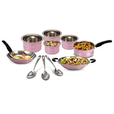 10 Pcs Complete Coloured Cookware Set