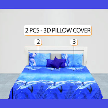 10 Pcs 3D Digital Print Bedroom Combo - Pick Any 1