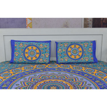 100% Cotton Pack of 5 Mandal Print Bedsheet Set (5BS44)