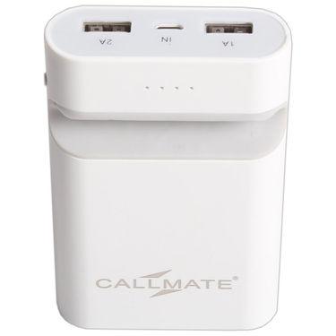 Callmate Power Bank Mobile Holder 7800 mAh - White