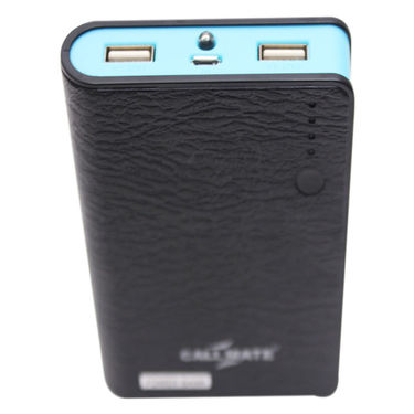 Callmate Power Bank Leather Wallet 15600 mAh - Black