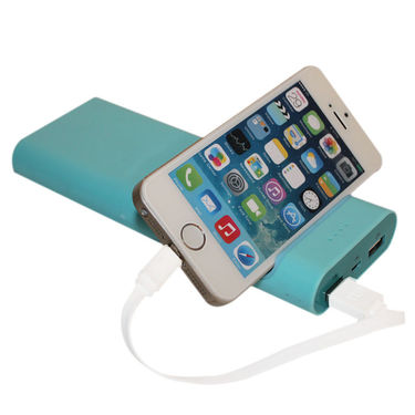 Callmate Power Bank Mobile Holder 15600 mAh - Sky Blue