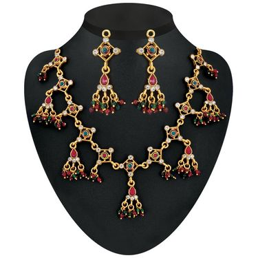 Kriaa Combo of 5 Jewellery Set With Free Brooch And Earrings