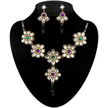 Kriaa Combo of 9 Ethnic Jewellery Set With Free Earring