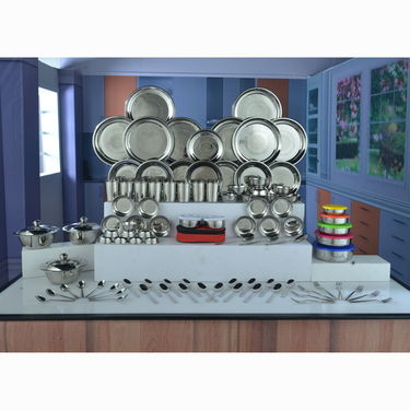 Buy 101 Pcs Stainless Steel Dinner Set Online At Best Price In India