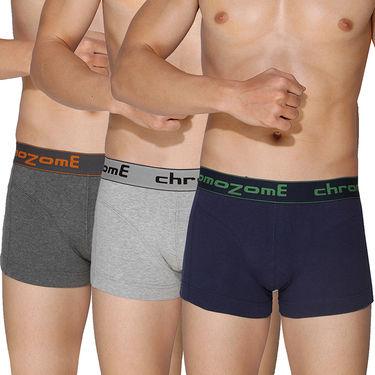 Pack of 3 Chromozome Regular Fit Trunks For Men_10226 - Multicolor