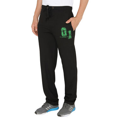 Chromozome Regular Fit Trackpants For Men_10430 - Black