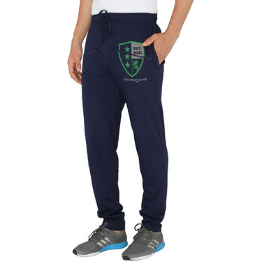 Chromozome Regular Fit Trackpants For Men_10470 - Navy